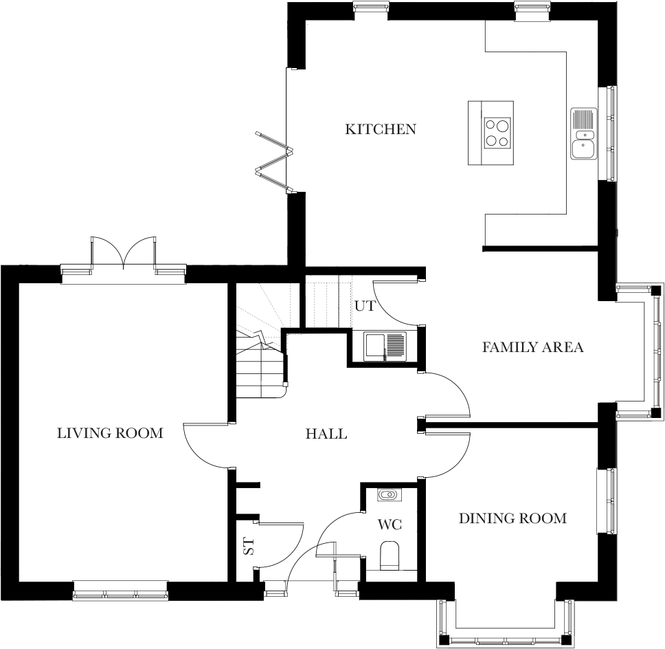 The Ashbury ground floor plan