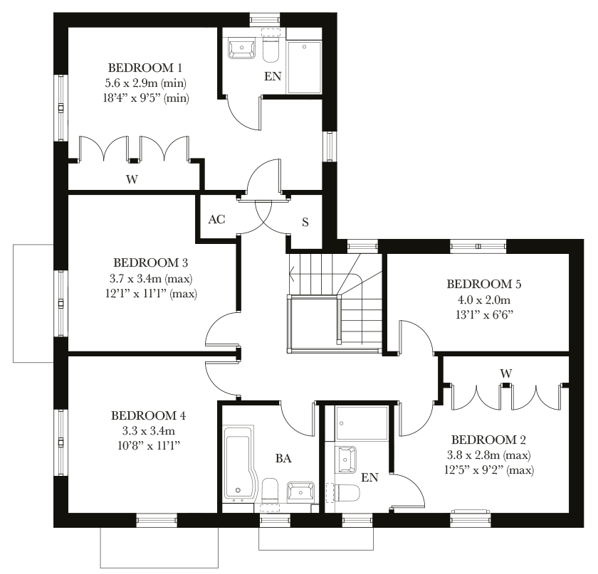 The Ashbury first floor plan