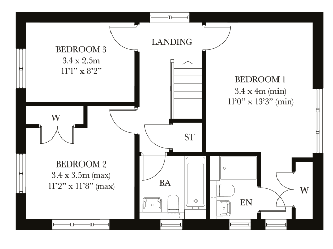 The Foxham first floor plan