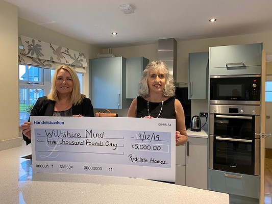 Redcliffe Homes makes £5,000 donation to Wiltshire Mind