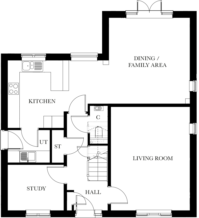 The Malvern ground floor plan