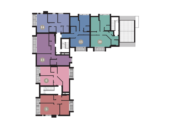 Apartment 20 second floor plans