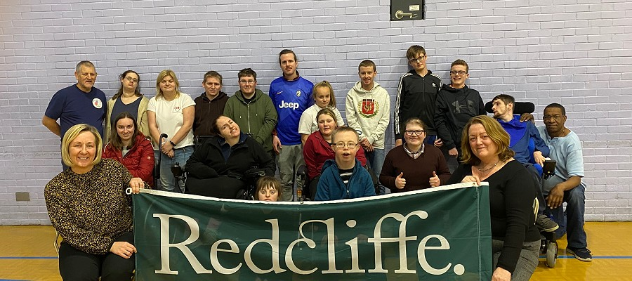 Charitable donation supports local Boccia club.