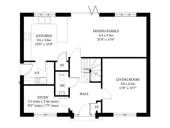 The Wimborne ground floor plan
