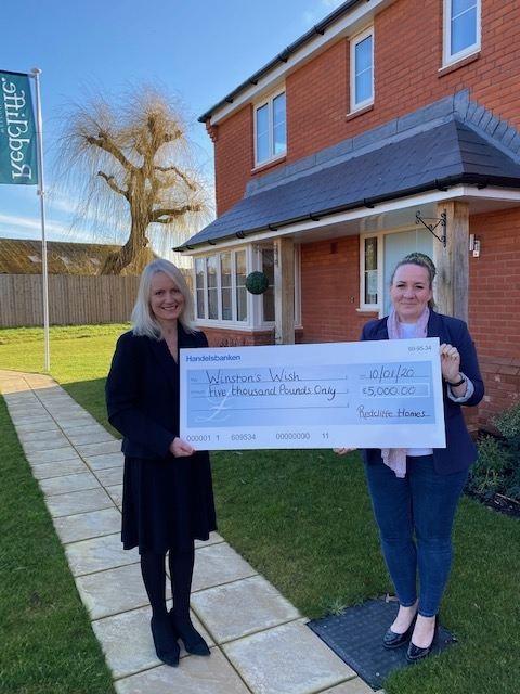 Redcliffe hands £5,000 to children's bereavement charity